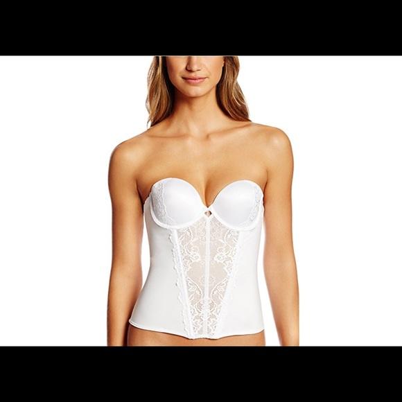 b179ea1535be2 Brand new Jezebel Strapless women s white Bustier